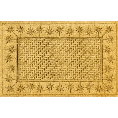 Aqua Shield Island Palms Doormat Color: Yellow