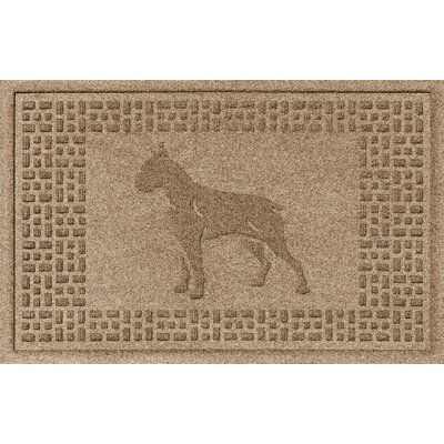 Aqua Shield Boxer Doormat Color: Camel