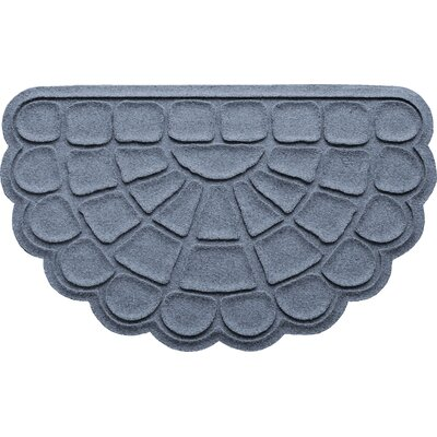 Aqua Shield Cobblestone Slice Doormat Color: Bluestone