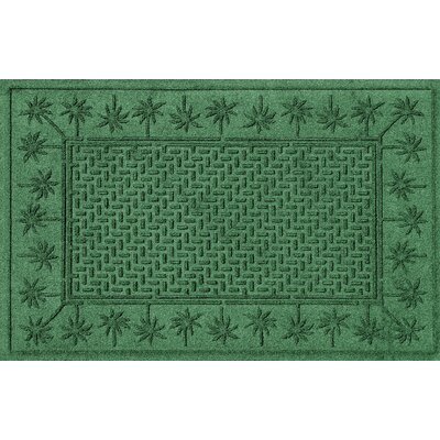 Aqua Shield Island Palms Doormat Color: Light Green