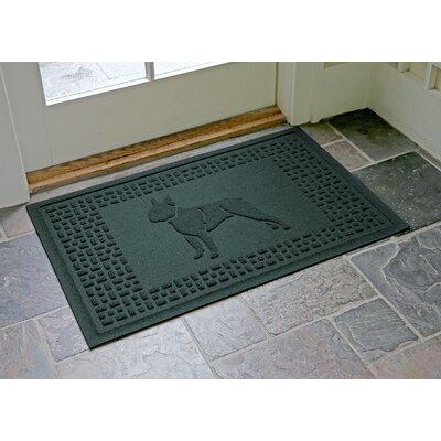 Aqua Shield Boston Terrier Doormat Color: Evergreen