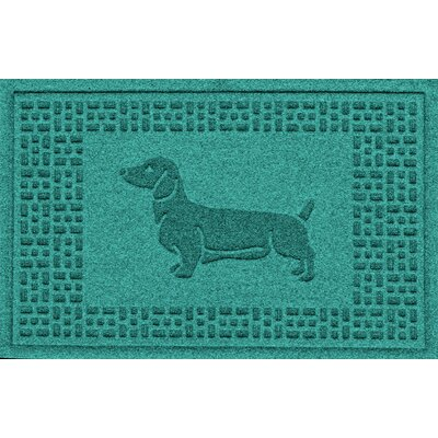 Conway Dachshund Doormat Color: Aquamarine