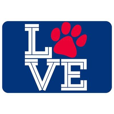 Surfaces Love Pooch Pet Feeder Doormat Color: Blue