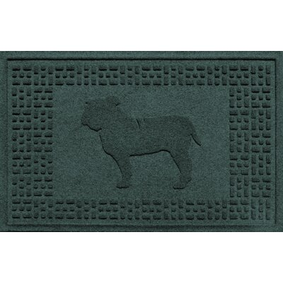 Aqua Shield Bulldog Doormat Color: Evergreen