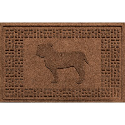 Aqua Shield Bulldog Doormat Color: Dark Brown