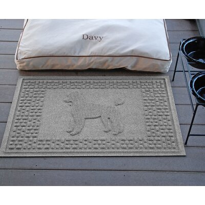 Aqua Shield Poodle Doormat Color: Medium Gray