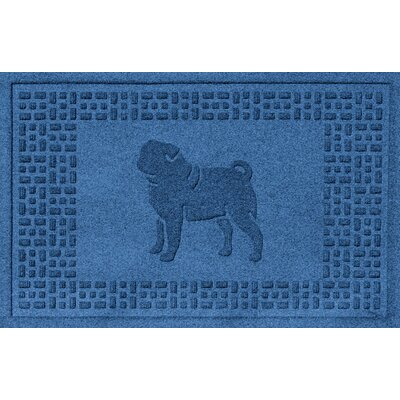Conway Pug Doormat Color: Medium Blue