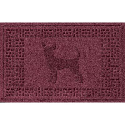 Aqua Shield Chihuahua Doormat Color: Bordeaux