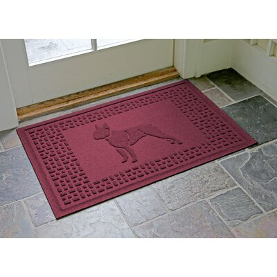 Conway Boston Terrier Doormat Color: Bordeaux