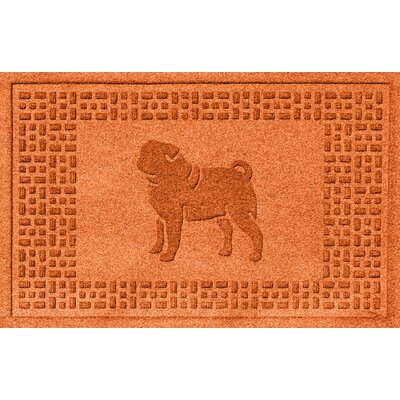 Aqua Shield Pug Doormat Color: Orange
