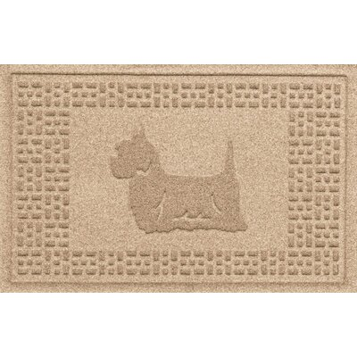 Aqua Shield Yorkie Doormat Color: Camel