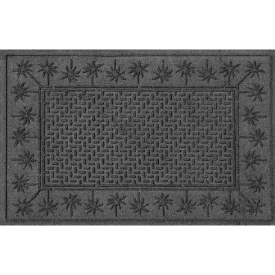 Aqua Shield Island Palms Doormat Color: Charcoal