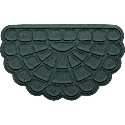 Aqua Shield Cobblestone Slice Doormat Color: Evergreen