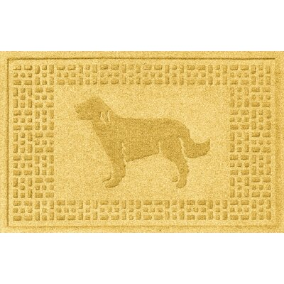Aqua Shield Golden Retriever Doormat Color: Yellow