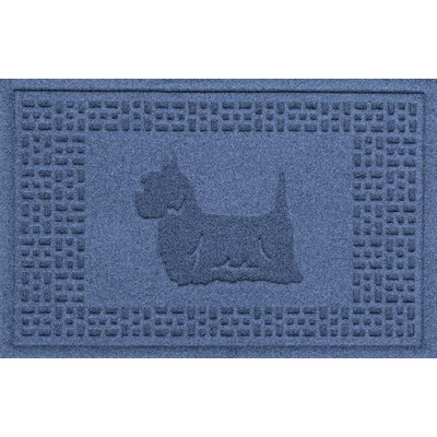 Aqua Shield Yorkie Doormat Color: Navy