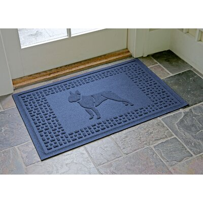 Conway Boston Terrier Doormat Color: Navy