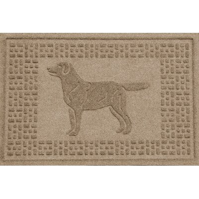 Conway Labrador Retriever Doormat Color: Camel