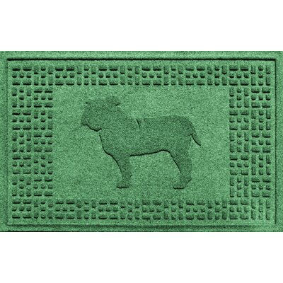 Aqua Shield Bulldog Doormat Color: Light Green