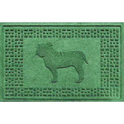 Aqua Shield Bulldog Doormat Color: Light Green