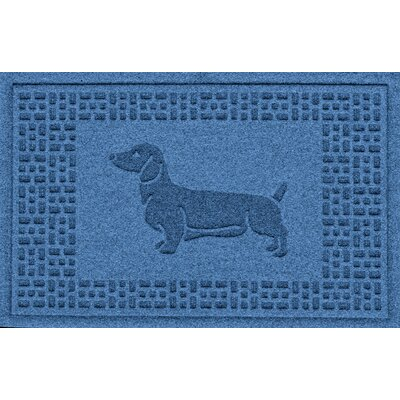 Conway Dachshund Doormat Color: Medium Blue