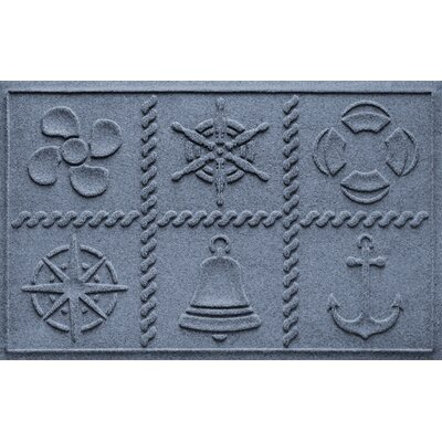 Aqua Shield Nautical Grid Doormat Color: Bluestone