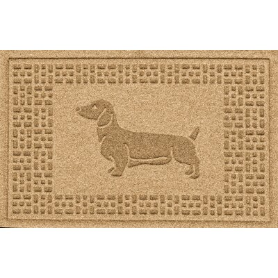 Conway Dachshund Doormat Color: Gold