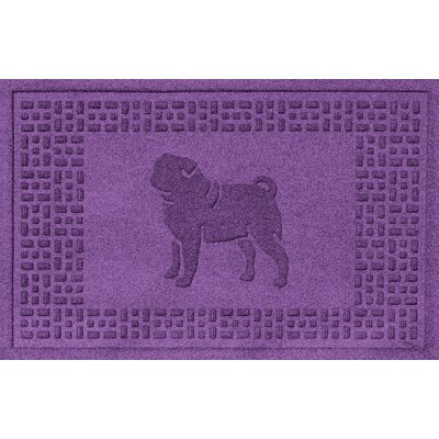 Aqua Shield Pug Doormat Color: Purple
