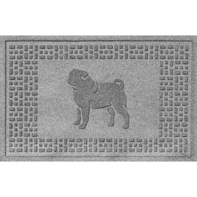 Aqua Shield Pug Doormat Color: Medium Gray