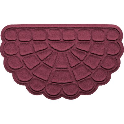 Aqua Shield Cobblestone Slice Doormat Color: Bordeaux