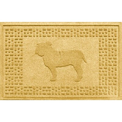 Aqua Shield Bulldog Doormat Color: Yellow