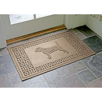 Aqua Shield Beagle Doormat Color: Camel