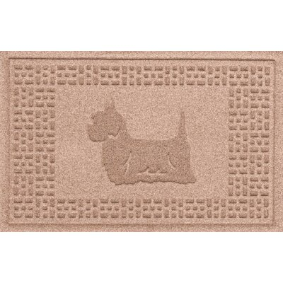 Aqua Shield Yorkie Doormat Color: Medium Brown