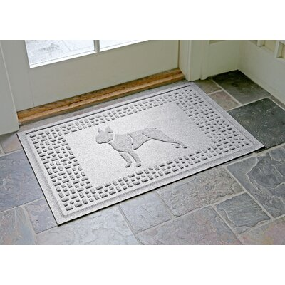 Conway Boston Terrier Doormat Color: White