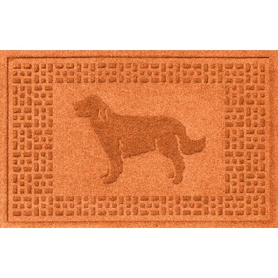 Conway Golden Retriever Doormat Color: Orange