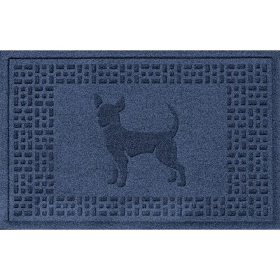 Aqua Shield Chihuahua Doormat Color: Navy
