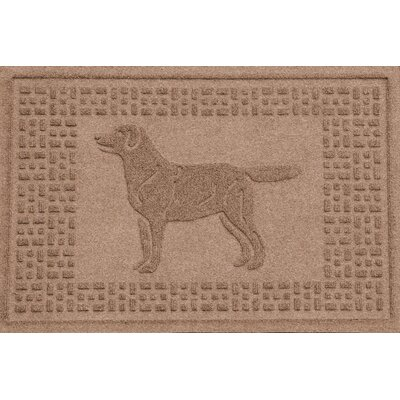 Conway Labrador Retriever Doormat Color: Medium Brown