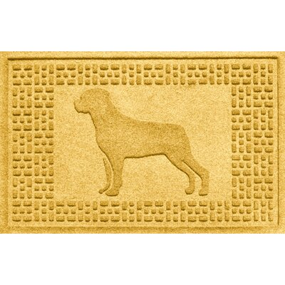 Aqua Shield Rottweiler Doormat Color: Yellow