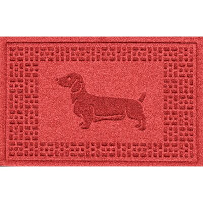 Conway Dachshund Doormat Color: Solid Red