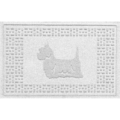 Aqua Shield Yorkie Doormat Color: White