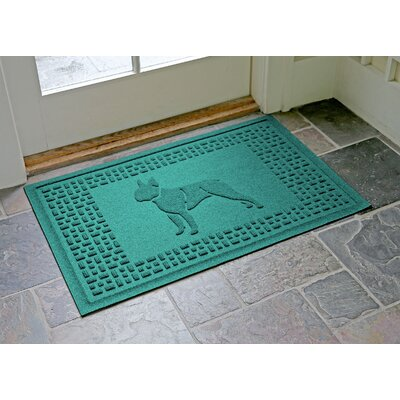 Conway Boston Terrier Doormat Color: Aquamarine