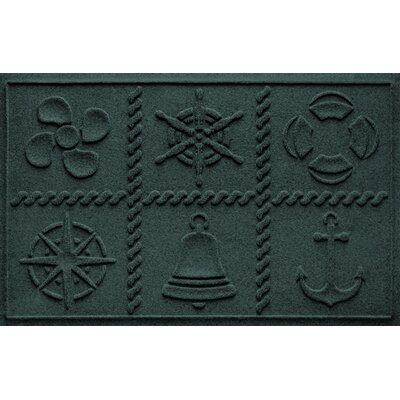 Aqua Shield Nautical Grid Doormat Color: Evergreen