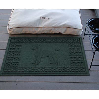 Aqua Shield Poodle Doormat Color: Evergreen