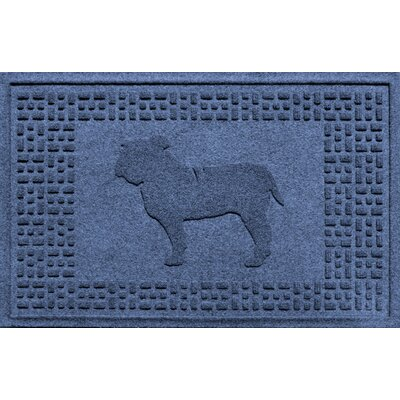 Aqua Shield Bulldog Doormat Color: Navy