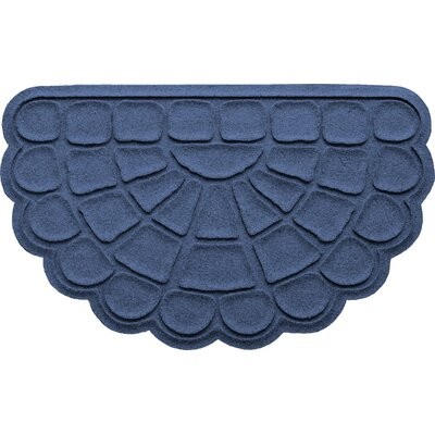 Aqua Shield Cobblestone Slice Doormat Color: Navy