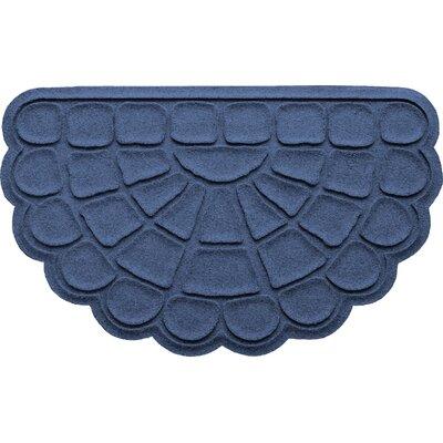 Aqua Shield Cobblestone Slice Doormat Color: Navy