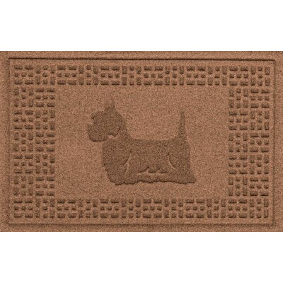 Aqua Shield Yorkie Doormat Color: Dark Brown