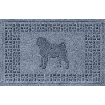 Aqua Shield Pug Doormat Color: Bluestone