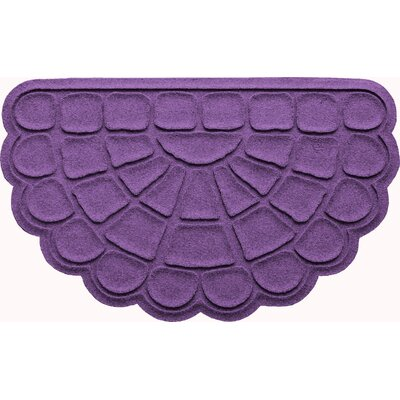 Aqua Shield Cobblestone Slice Doormat Color: Purple