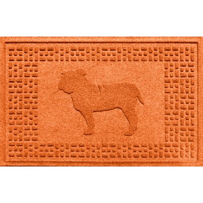 Aqua Shield Bulldog Doormat Color: Orange