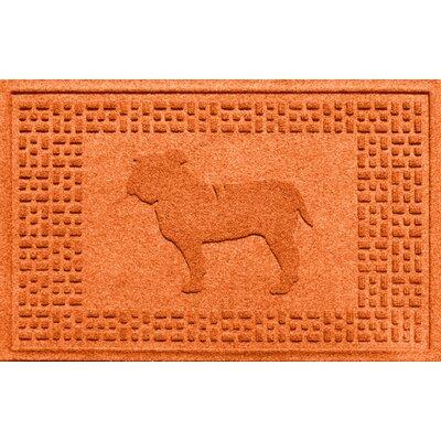 Aqua Shield Bulldog Doormat Color: Orange